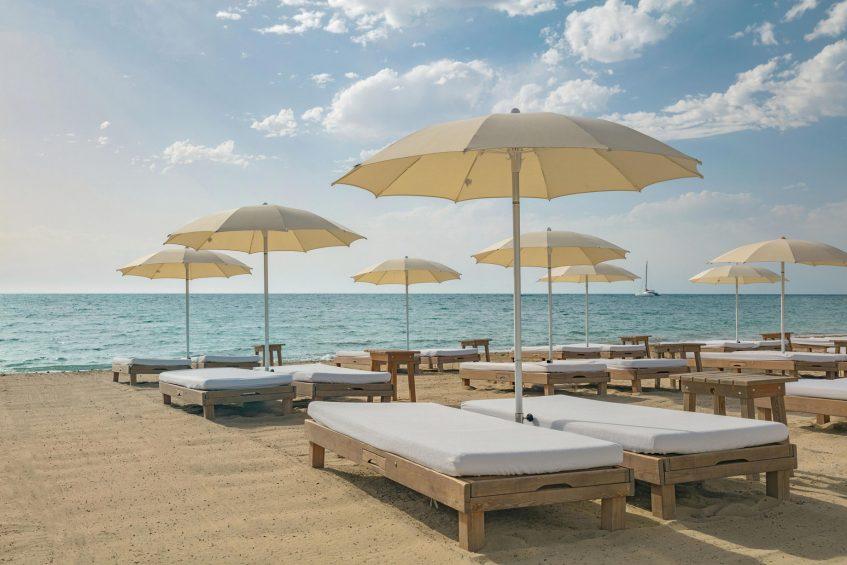 W Ibiza Luxury Hotel - Santa Eulalia del Rio, Spain - Chiringuito Blue Beach Beds