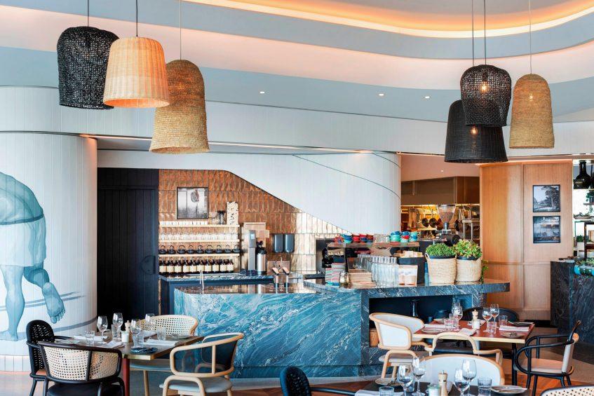 W Brisbane Luxury Hotel - Brisbane, Australia - Three Blue Ducks Restaurant Decor