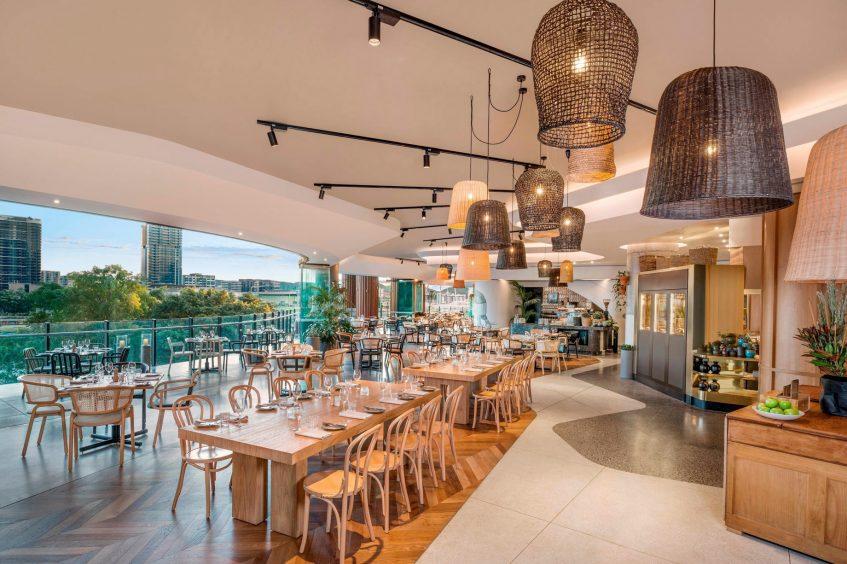 W Brisbane Luxury Hotel - Brisbane, Australia - Three Blue Ducks Restaurant Seating