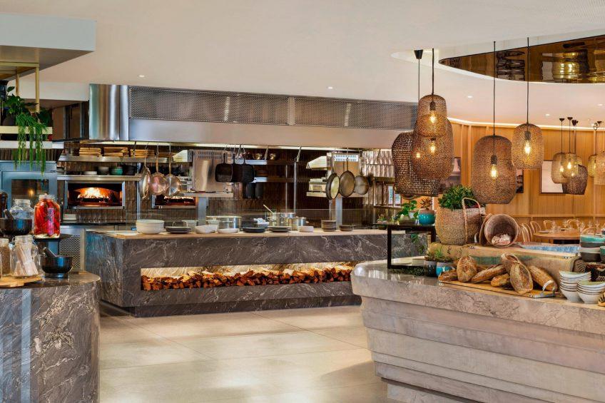 W Brisbane Luxury Hotel - Brisbane, Australia - Three Blue Ducks Restaurant Serving Area
