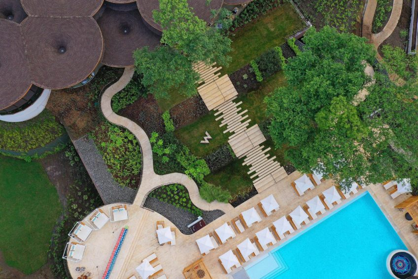 W Costa Rica Reserva Conchal Luxury Resort - Costa Rica - Resort Overhead Aerial View
