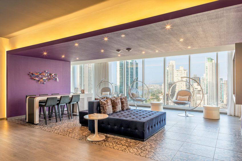 W Panama Luxury Hotel - Panama City, Panama - Wow Suite Living Room Decor