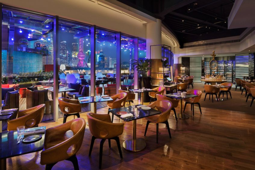 W Shanghai The Bund Luxury Hotel - Shanghai, China - The Kitchen Table Night