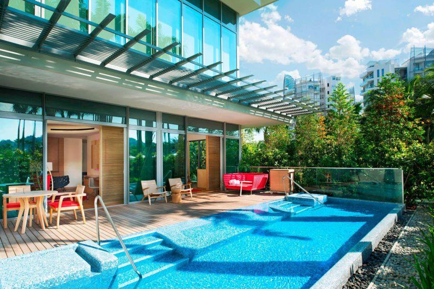 W Singapore Sentosa Cove Luxury Hotel - Singapore - Away Suite Pool