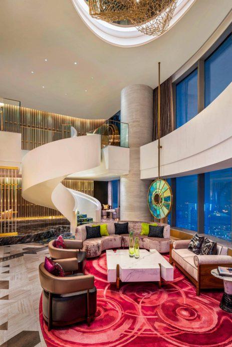 W Suzhou Luxury Hotel - Suzhou, China - Extreme WOW Suite Living Room