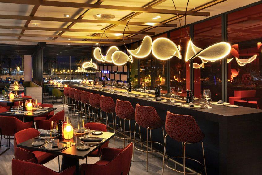 W Barcelona Luxury Hotel - Barcelona, Spain - FIRE Tables
