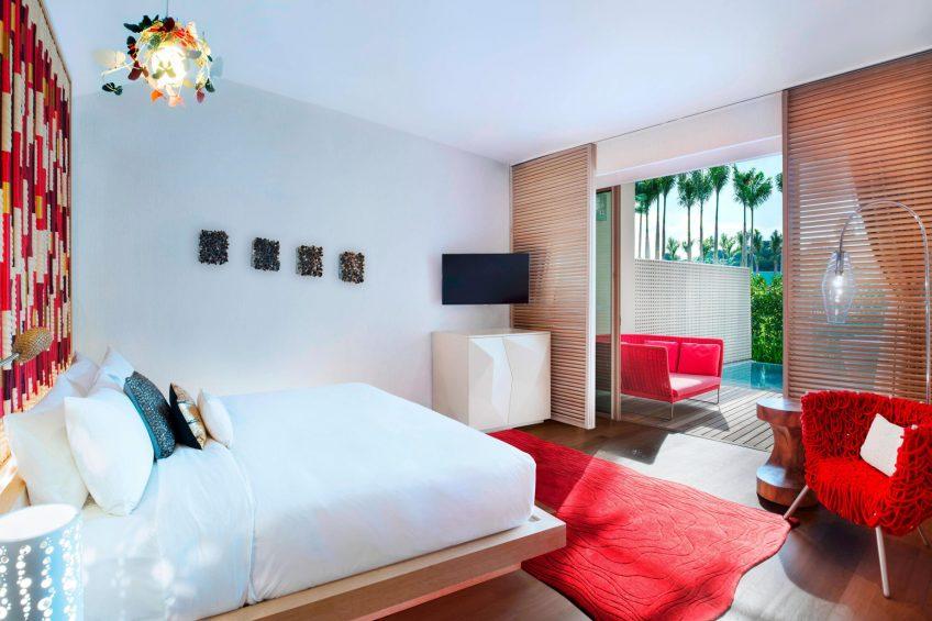 W Singapore Sentosa Cove Luxury Hotel - Singapore - AWAY Guest Room Bedroom