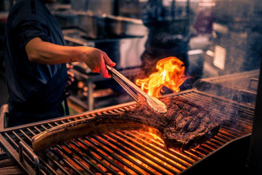 W Barcelona Luxury Hotel - Barcelona, Spain - FIRE Grill Barbacue Steak