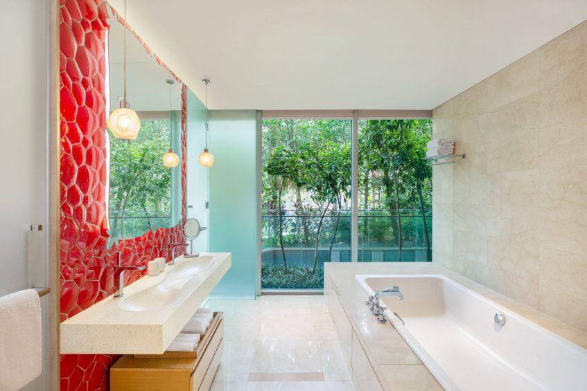 W Singapore Sentosa Cove Luxury Hotel - Singapore - AWAY Suite Bathroom