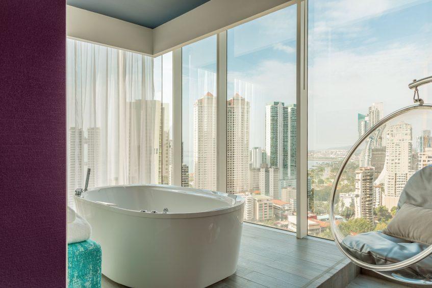 W Panama Luxury Hotel - Panama City, Panama - Suite Bathroom Tub View