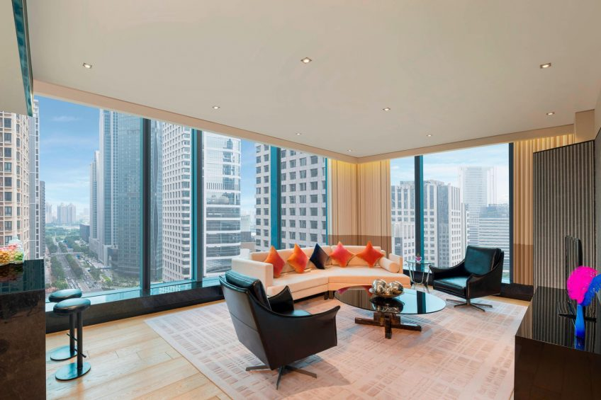 W Guangzhou Luxury Hotel - Tianhe District, Guangzhou, China - Apartment Guest Room Living Room