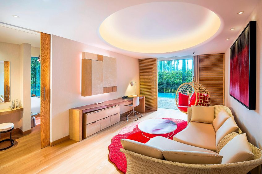 W Singapore Sentosa Cove Luxury Hotel - Singapore - AWAY Suite Living Room