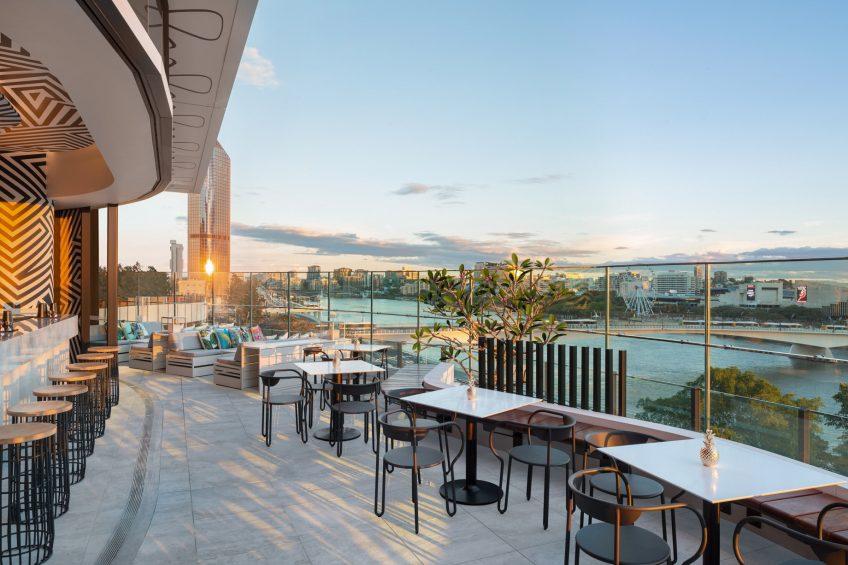 W Brisbane Luxury Hotel - Brisbane, Australia - WET Deck Terrace Day
