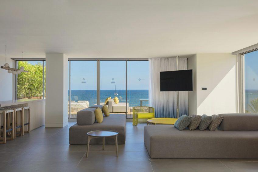 W Ibiza Luxury Hotel - Santa Eulalia del Rio, Spain - E WOW Suite Living Room