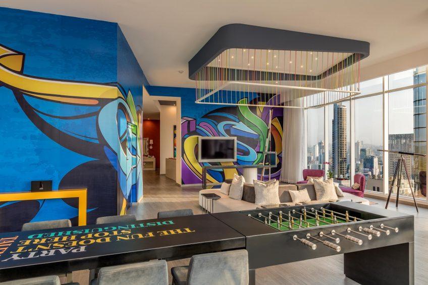 W Panama Luxury Hotel - Panama City, Panama - E Wow Suite Living Room Decor