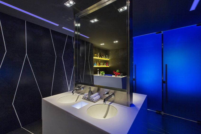 W Mexico City Luxury Hotel - Polanco, Mexico City, Mexico - Tequila Bar Bathroom Living Room Bar