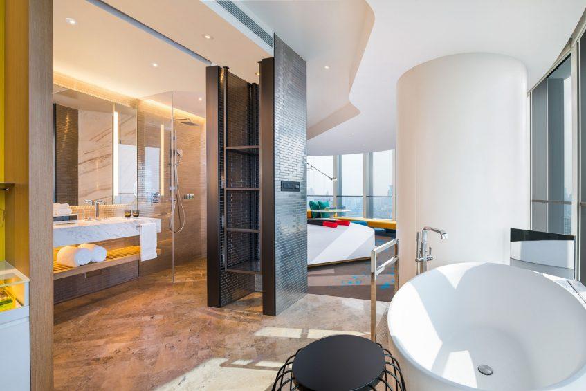 W Shanghai The Bund Luxury Hotel - Shanghai, China - Cool Corner Room on The Bund Bathroom