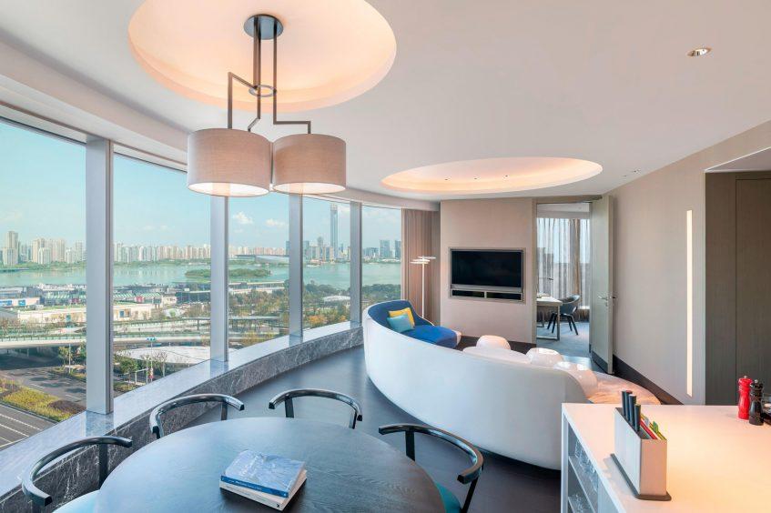 W Suzhou Luxury Hotel - Suzhou, China - Apartment Living Room View