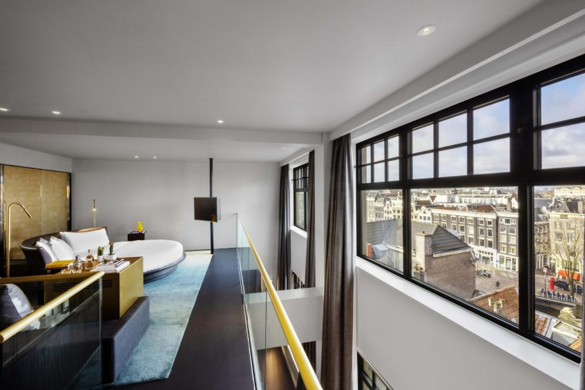 W Amsterdam Luxury Hotel - Amsterdam, Netherlands - Extreme WOW Bank One Bedroom Suite View