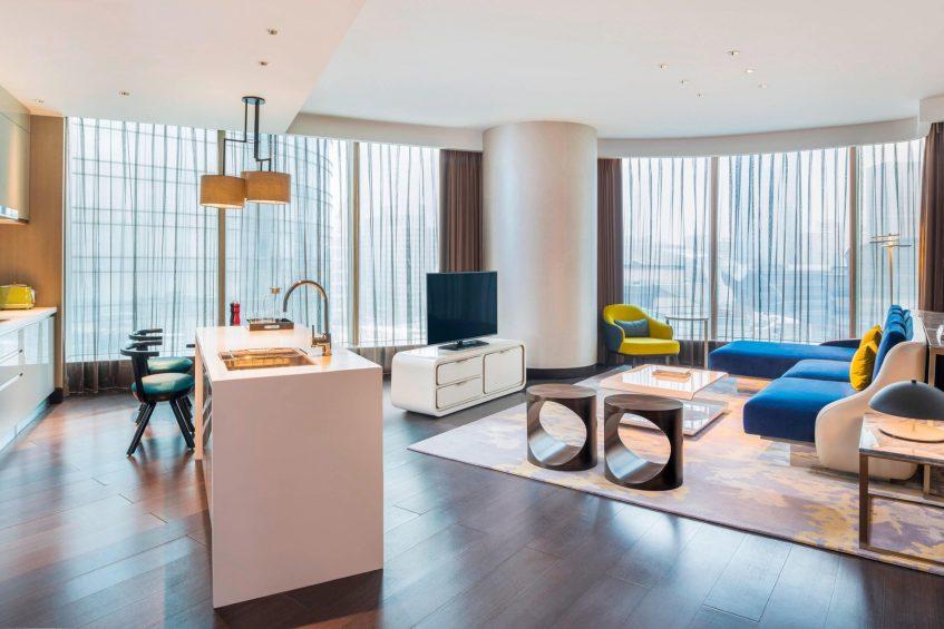 W Suzhou Luxury Hotel - Suzhou, China - Apartment Living Room