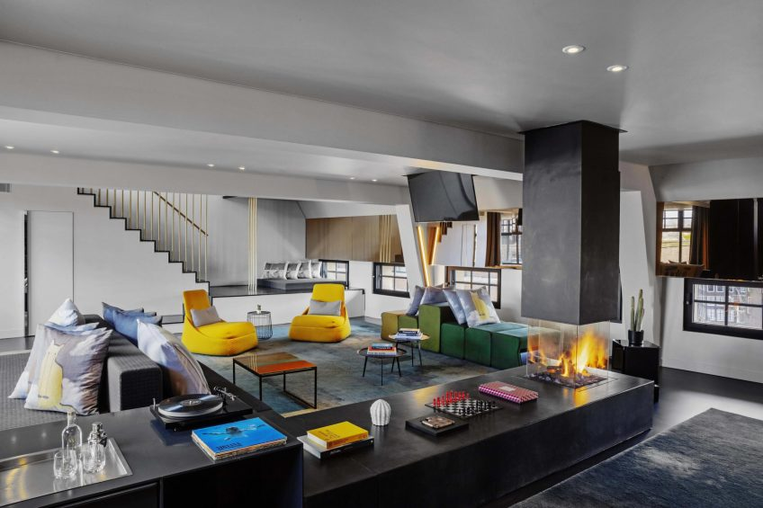 W Amsterdam Luxury Hotel - Amsterdam, Netherlands - Extreme WOW Bank One Bedroom Suite