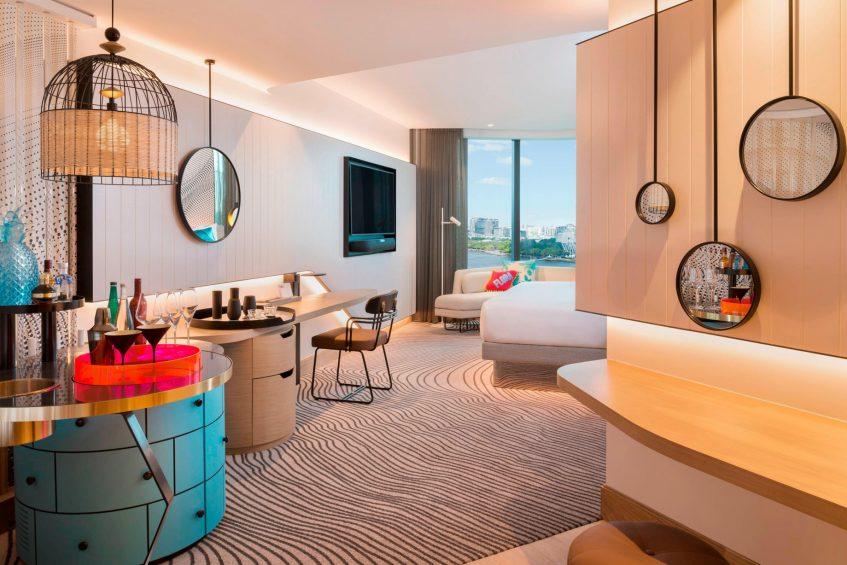 W Brisbane Luxury Hotel - Brisbane, Australia - Cool Corner King Guest Room