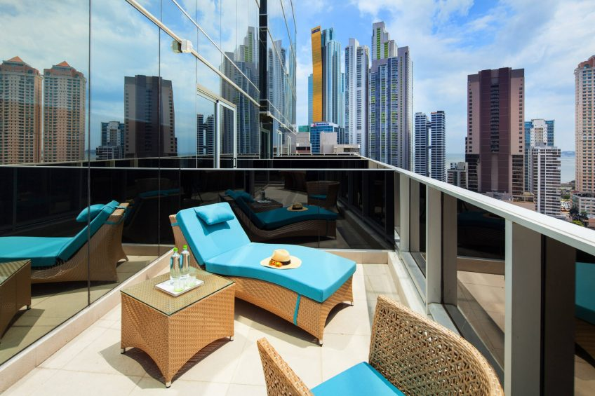 W Panama Luxury Hotel - Panama City, Panama - Guest Room Balcony