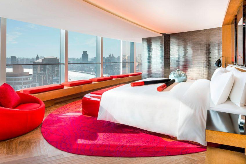 W Shanghai The Bund Luxury Hotel - Shanghai, China - Fantastic Suite Bedroom
