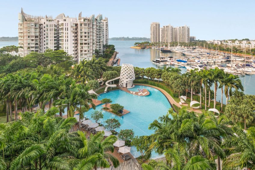 W Singapore Sentosa Cove Luxury Hotel - Singapore - Fabulous Guest Room Pool View