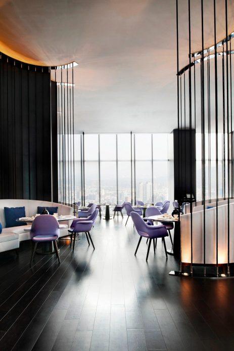 W Taipei Luxury Hotel - Taipei, Taiwan - YEN Restaurant Dining Area Seating