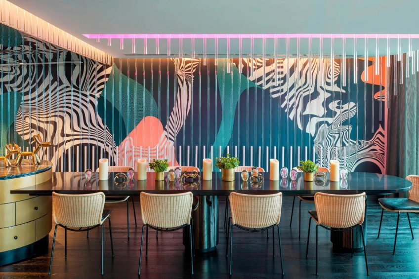 W Brisbane Luxury Hotel - Brisbane, Australia - Extreme Wow Suite Dining Table