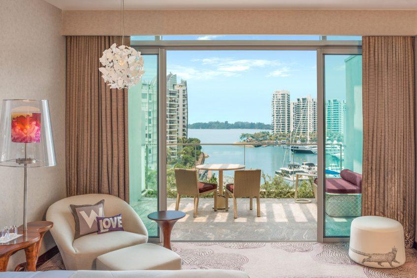 W Singapore Sentosa Cove Luxury Hotel - Singapore - Fabulous Guest Room Balcony
