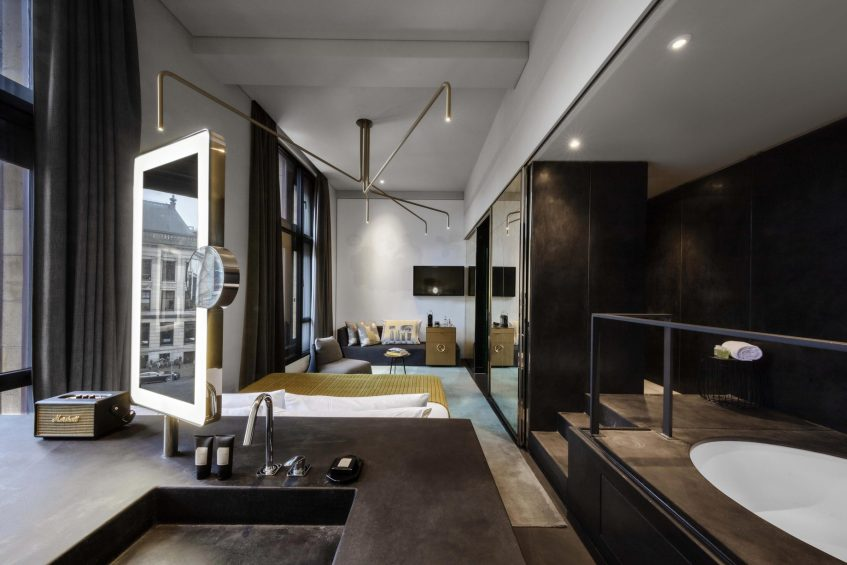 W Amsterdam Luxury Hotel - Amsterdam, Netherlands - Fabulous Bank City View Guest Bedroom Vanity