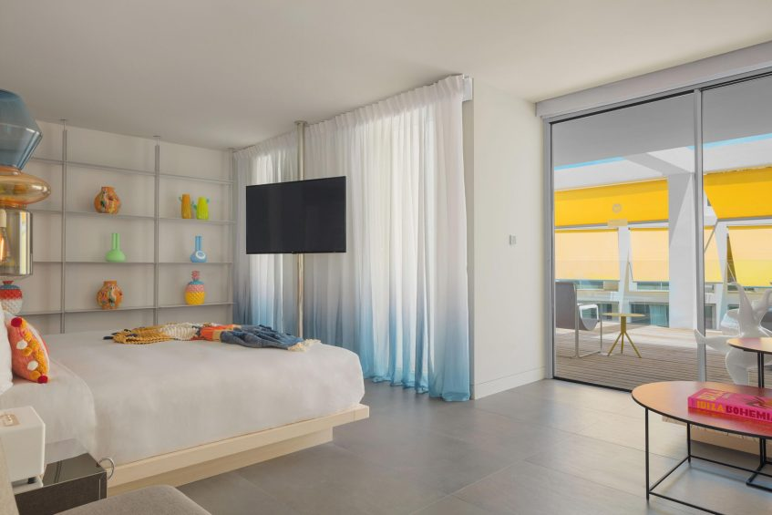 W Ibiza Luxury Hotel - Santa Eulalia del Rio, Spain - Marvelous Suite Bedroom Deck