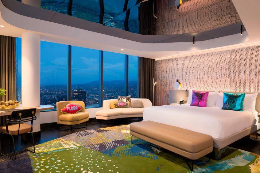 W Brisbane Luxury Hotel - Brisbane, Australia - Extreme WOW Suite Bedroom Night