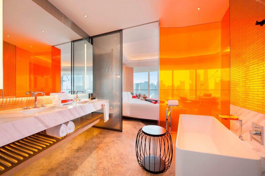 W Shanghai The Bund Luxury Hotel - Shanghai, China - Guest Bathroom Tub