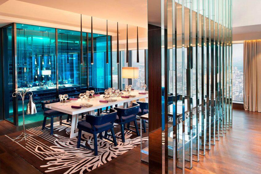 W Taipei Luxury Hotel - Taipei, Taiwan - Extreme WOW Suite Dining Room