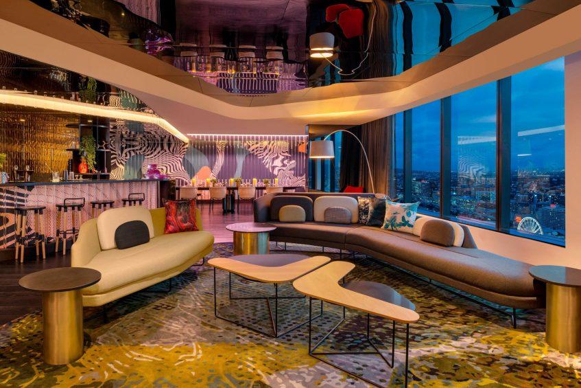 W Brisbane Luxury Hotel - Brisbane, Australia - Extreme WOW Suite Lounge Night