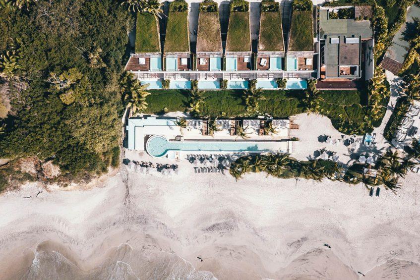 W Punta de Mita Luxury Resort - Punta De Mita, Mexico - Overhead Resort Beach Aerial