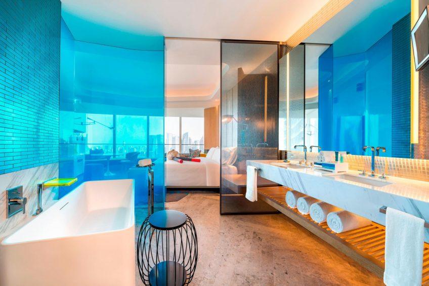 W Shanghai The Bund Luxury Hotel - Shanghai, China - Guest Bathroom Vanity