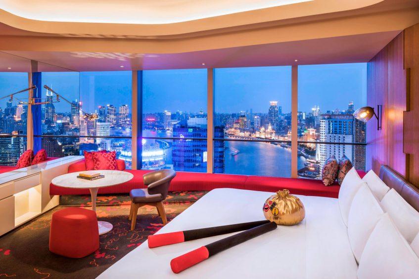 W Shanghai The Bund Luxury Hotel - Shanghai, China - Mega Guest Room on The Bund View