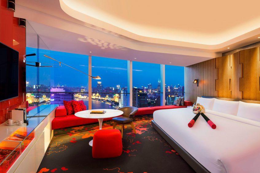 W Shanghai The Bund Luxury Hotel - Shanghai, China - Mega Guest Room on The Bund