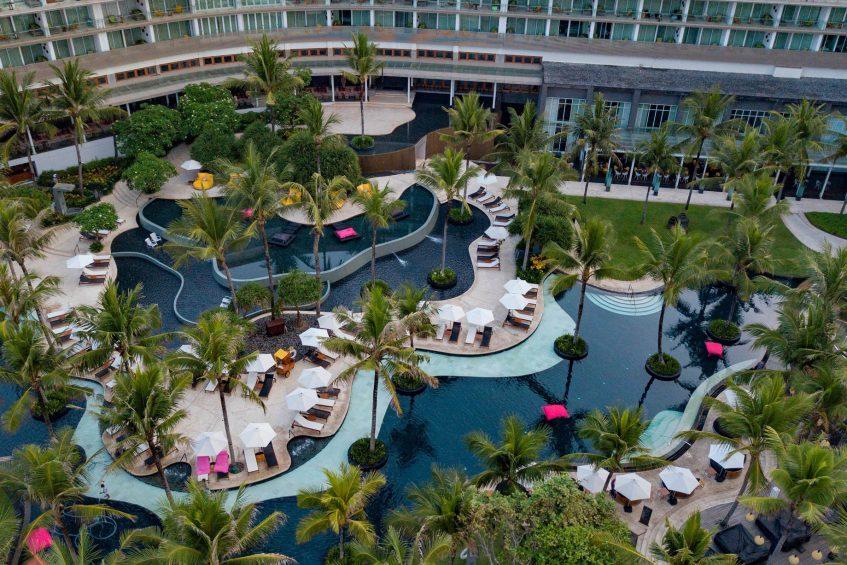 W Bali Seminyak Luxury Resort - Seminyak, Indonesia - WET Pool Aerial Hotel View