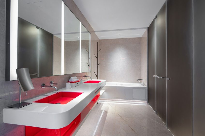 W Suzhou Luxury Hotel - Suzhou, China - Fabulous Room Bathroom Vanity