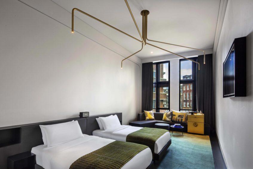 W Amsterdam Luxury Hotel - Amsterdam, Netherlands - Fabulous Bank Guest Room Decor
