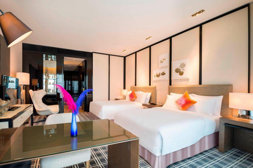 W Guangzhou Luxury Hotel - Tianhe District, Guangzhou, China - Twin Guest Bedroom
