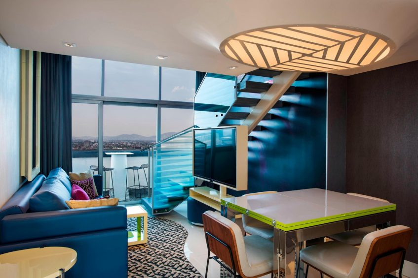 W Mexico City Luxury Hotel - Polanco, Mexico City, Mexico - Marvelous Guest Living and Dining Room
