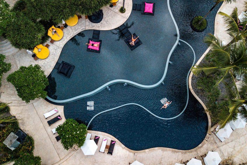 W Bali Seminyak Luxury Resort - Seminyak, Indonesia - WET Pool Aerial View
