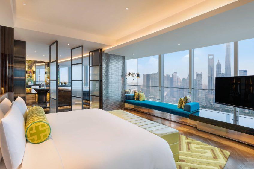 W Shanghai The Bund Luxury Hotel - Shanghai, China - Wow Suite Bedroom