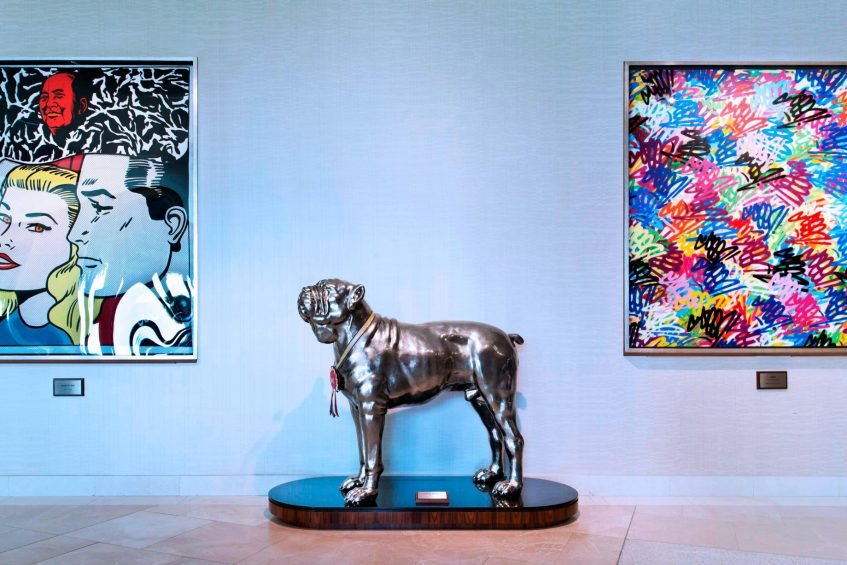 W Singapore Sentosa Cove Luxury Hotel - Singapore - Welcome Area Art Pieces